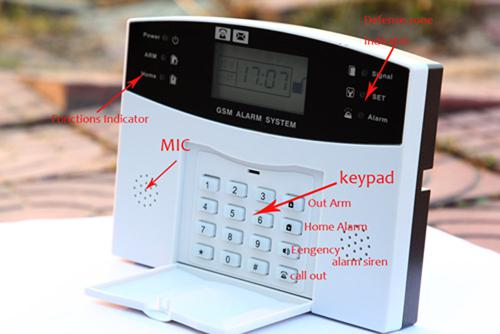 !Wireless GSM Alarm system Home security Alarm systems with LCD Keyboard Sensor alarm