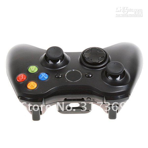 Wholesale+Genuine Wireless Controller for XBox 360 wireless Joypad black& white,Free Shipping