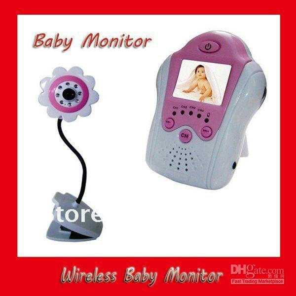 2.4GHz Digital Video Wireless Baby Monitor Camera Flower Design Blue and Pink