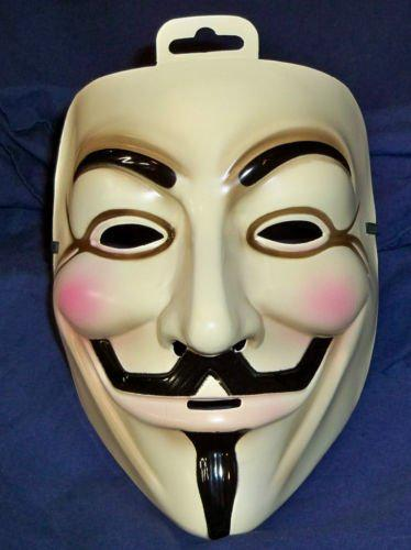 V for Vendetta Mask -Set 100 Yellow Coloer (One Size Fits All) Halloween Party Movie Masks Halloween Gifts