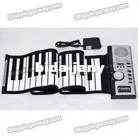 FREE-SHIPPING-GIFT-IDEA-new-61-Keys-Roll-Up-Electronic-Piano-Soft-Keyboard-with-AC-Power