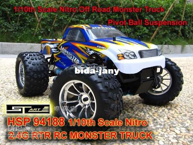 HSP 94188 Scale Nitro Off Road Monster Truck 2.4GHZ RTR RC Car Pivot Ball Suspension 6