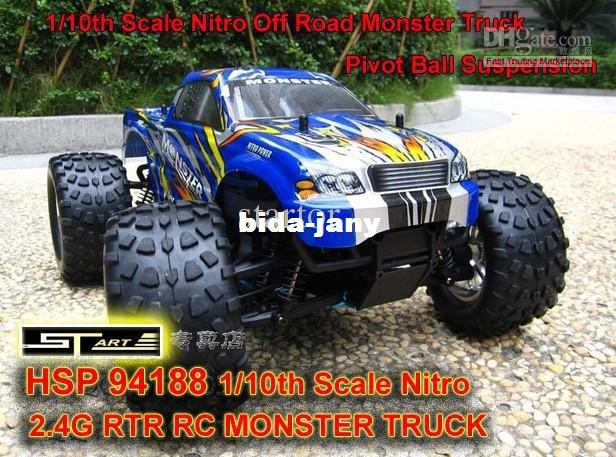 HSP 94188 Scale Nitro Off Road Monster Truck 2.4GHZ RTR RC Car Pivot Ball Suspension 5