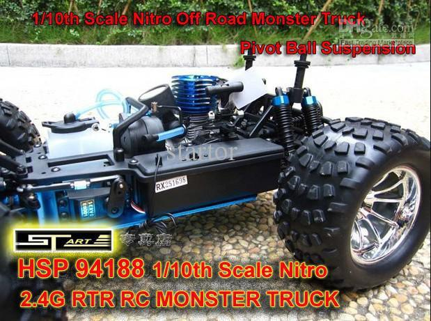 HSP 94188 Scale Nitro Off Road Monster Truck 2.4GHZ RTR RC Car Pivot Ball Suspension 4