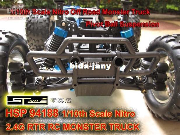 HSP 94188 Scale Nitro Off Road Monster Truck 2.4GHZ RTR RC Car Pivot Ball Suspension 2