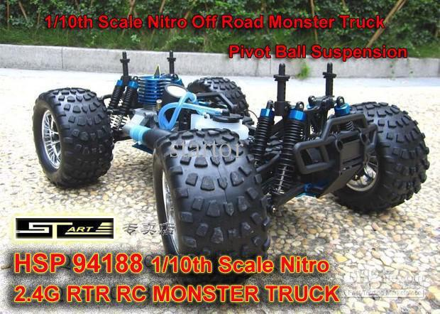 HSP 94188 Scale Nitro Off Road Monster Truck 2.4GHZ RTR RC Car Pivot Ball Suspension 3