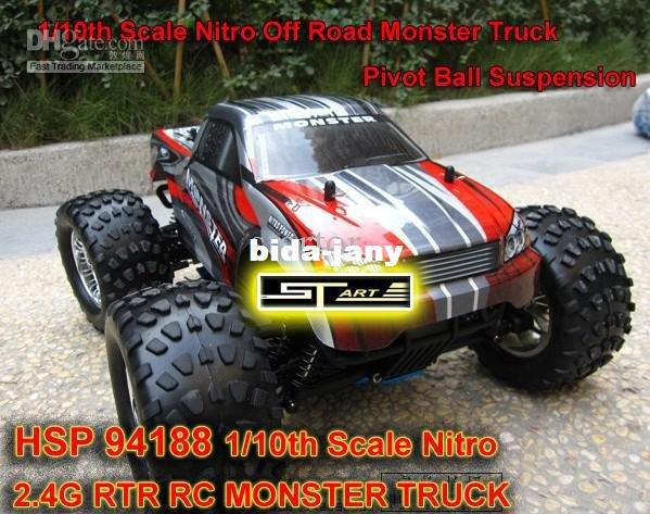 HSP 94188 Scale Nitro Off Road Monster Truck 2.4GHZ RTR RC Car Pivot Ball Suspension